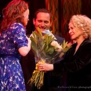Carole surprises the cast of Beautiful!  West End,  London