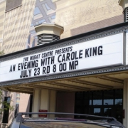 Marquee at the Murat Theater in Indianapolis. Photo by CKP