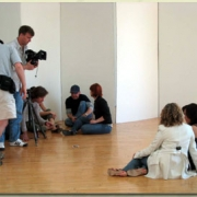 Behind the scenes . . . literally! Photo by PRP