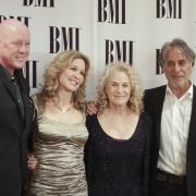 Russ Kunkel, Sherry Kondor, Carole King, Danny Kortchmar -BMI Awards. Photo by Elissa Kline