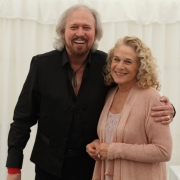 Barry Gibb and Carole King backstage - Mission Estate Winery, Hawke's Bay, Napier, New Zealand.  Photo by Elissa Kline