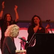 Carole King, Kate Markowitz & Andrea Zonn. Boston Strong. Photo by Elissa Kline