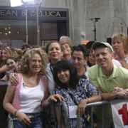 "Carole and her loyal ""CK heads"" at the Today Show -7-15-05. Photo by Elissa Kline"