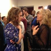 Jessie Mueller & Carole King backstage. Photo by Elissa Kline
