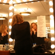 Getting ready for the show at Radio City 07-13-05. Photo by Elissa Kline