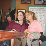 Carole with Melissa McCarthy in between takes on the set of Gilmore Girls - Nov. 2005. Photo by CKP