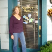 The door to Sophie's Music store - Feb. 2005. Photo by CKP