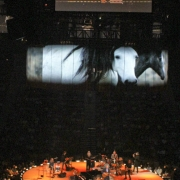 Detroit - Full band: Carole King, Arnold McCuller, James Taylor, Kate Markowitz, Andrea Zonn, Robbie Kondor, Leland Sklar, Danny Kortchmar, Russ Kunkel, and camera operator. Photo by Elissa Kline