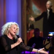 "Carole King performs during a concert honoring her in the East Room of the White House, May 22, 2013. President Barack Obama presented King with the 2013 Library of Congress Gershwin Prize for Popular Song. Carole King: The Library of Congress Gershwin Prize In Performance at the White House"" can be viewed at pbs.org . Photo credit: White House Photo by David Lienemann."