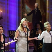 "From left, Gloria Estefan, Trisha Yearwood, and Emeli Sandé perform during a concert honoring singer-songwriter Carole King in the East Room of the White House, May 22, 2013. President Barack Obama presented King with the 2013 Library of Congress Gershwin Prize for Popular Song. ""Carole King: The Library of Congress Gershwin Prize In Performance at the White House"" can be viewes at pbs.org. Photo credit: White House Photo by David Lienemann."