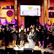 """Siedah Garrett sang """"I Feel The Earth Move"""" & """"Way Over Yonder"""" with Nolan Williams Jr. & the Voices of Inspiration.  Photo by Elissa Kline"""