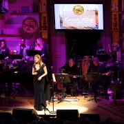 """Louise Goffin sang """"Beautiful"""".  Photo by Elissa Kline"""