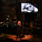 """Carole singing """"Now & Forever"""" dedicated to Phil Ramone.   Photo by Elissa Kline"""