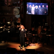 """Carole singing """"Now & Forever"""" dedicated to Phil Ramone.  2013 Gershwin Prize Library of Congress Concert.  Photo by Elissa Kline"""