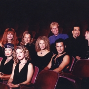 Featured in the photo with Carole (center) are:Row 1: Brie Howard Darling,  Sherry Goffin Kondor  Row 2: Linda Lawley Pelfrey, Danny Pelfrey, Carole King, Jerry Angel  Row 3: Rudy Guess, Ted Andreadis, John Humphrey. Photo by Cathrine Wessel