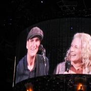 Salt Lake City - James and Carole on the big screen. Photo by Elissa Kline