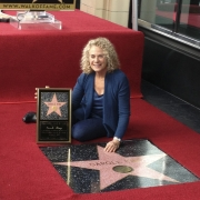 Carole on Hollywood's Walk of Fame.  Photo by Elissa Kline