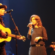 """Crying In The Rain"" with Jakob Dylan, Amy Grant & Rami Jaffe.  Photo by Elissa Kline"